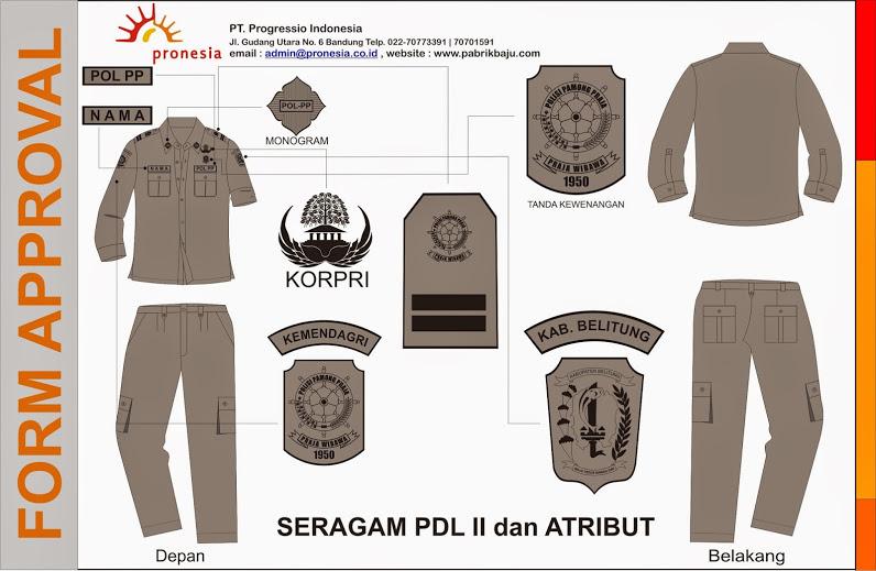 seragam pakaian satpol pp