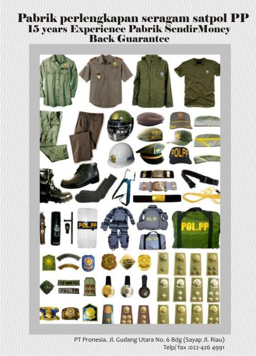 Katalog Perlengkapan Seragam Satpol PP