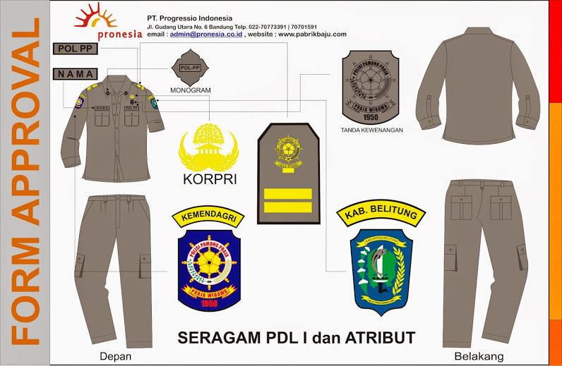 seragam PDL Satpol PP